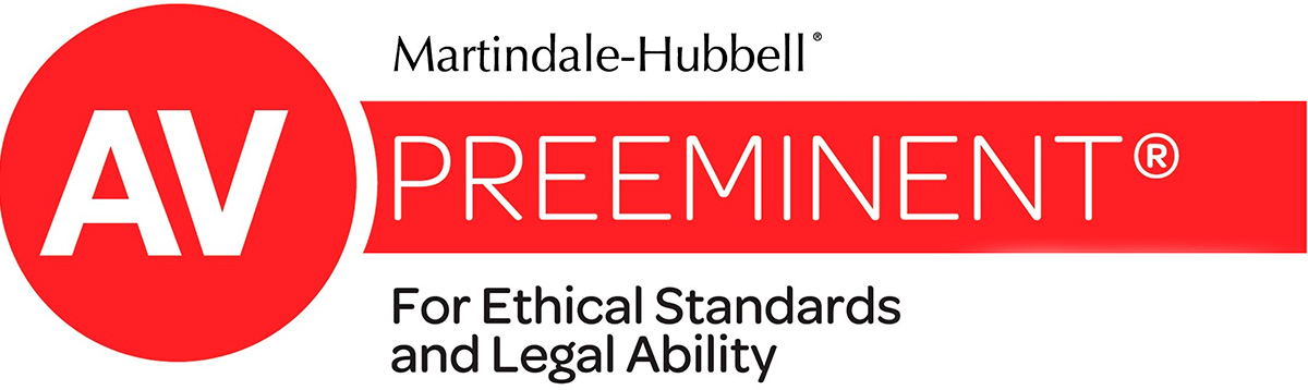 AV Preeminent for Ethica Standards and Legal Ability